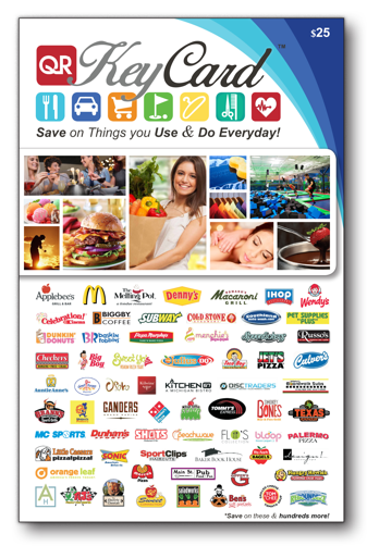KeyCard Coupon Book with hundreds of 50% off and more coupons