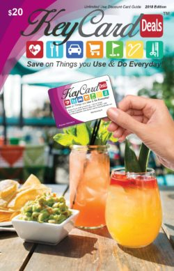 2018 KeyCard Discount Card, valid 7 days a week at over 1,200 area locations
