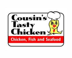 Cousin's Tasty Chicken logo